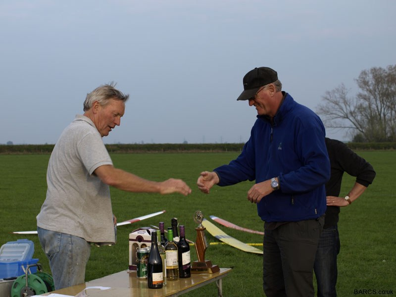 Ian Duff receives his prizes