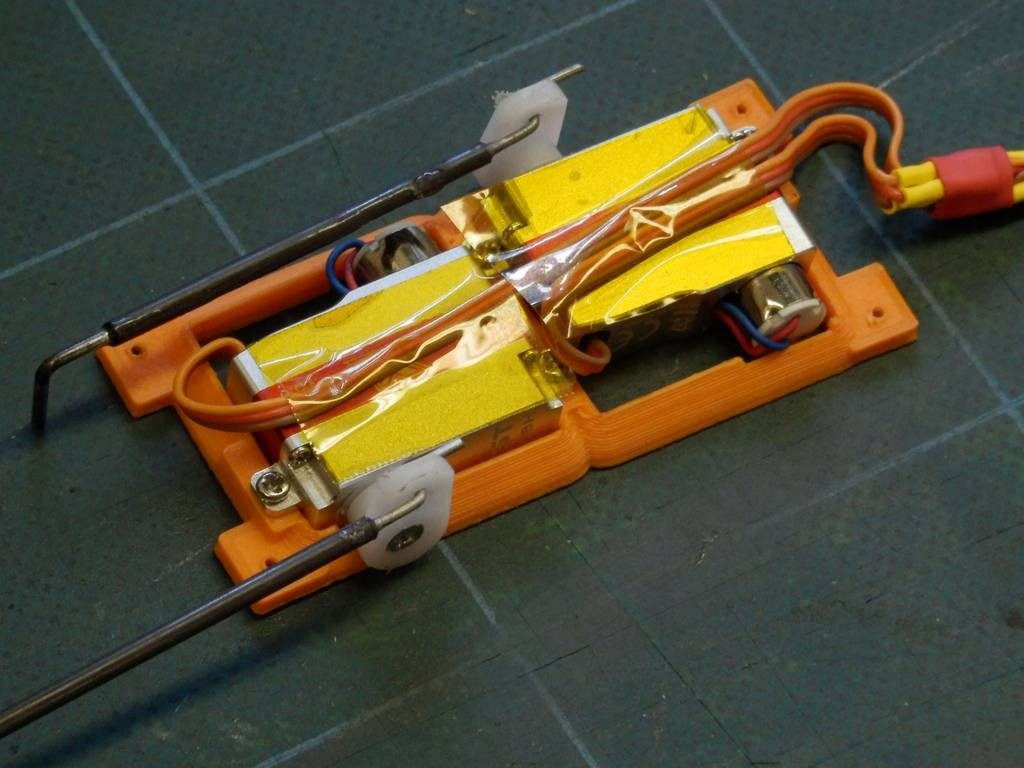 3D printed twin servo frame for pod