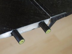 Close up of new Fin-Rudder attachment